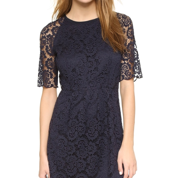 Madewell Dresses & Skirts - Madewell Short Sleeve Waisted Lace Dress